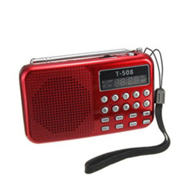 top popular Portable Radio Receiver FM Digital Radio Speaker WithB MP3 Digital Recorder Support Micro TF Card Rechargeable 2021