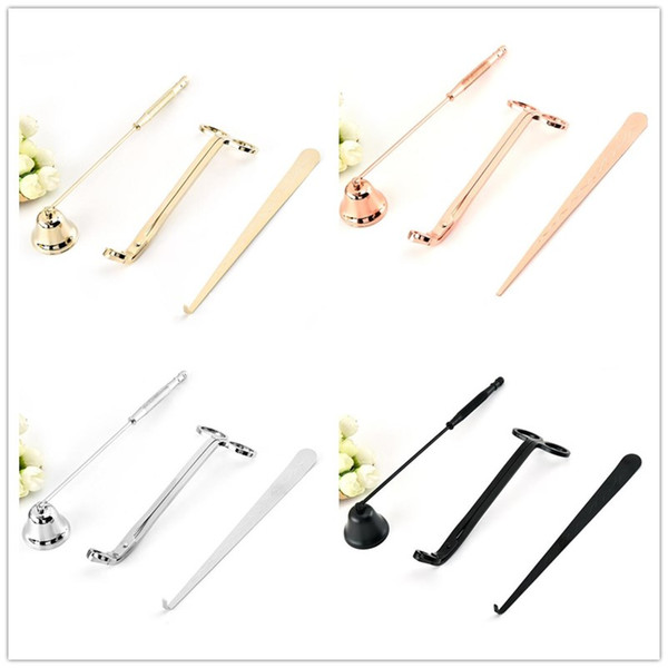 best selling Candle Accessory Set 3Pcs Lot Candle Tool Kit Candles Snuffer Trimmer Hook Great Gift For Scented Candles Lovers