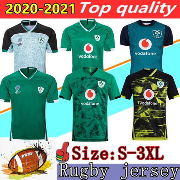 best selling 2020 2021 Ireland rugby Jerseys 2019 World Cup Ireland national team rugby Home court Away retro League rugby shirt POLO vest S-3XL