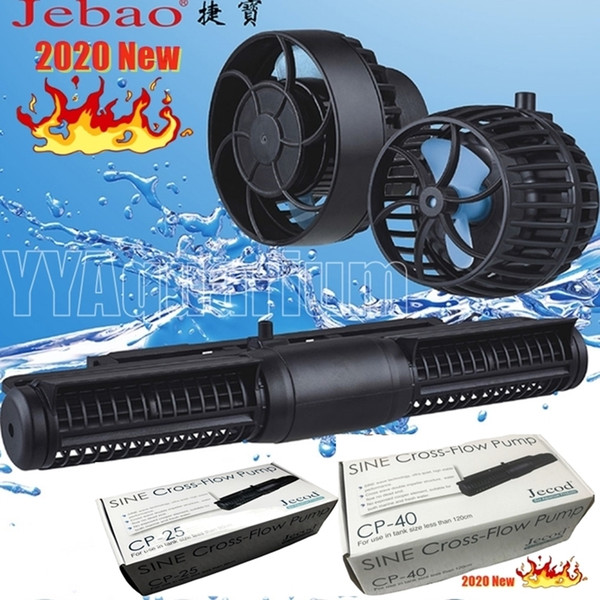 top popular Jebao Jecod CP-55 CP40 CP25 Cross Flow Wavemaker WIFI Pump New controller Aquarium 110-240V Powerful pumps for Fish Reef Coral Y200922 2021