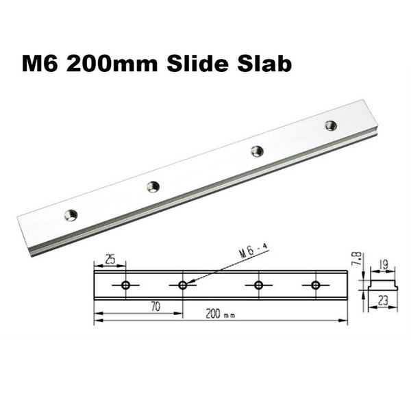 M6 200mm Slide Slab
