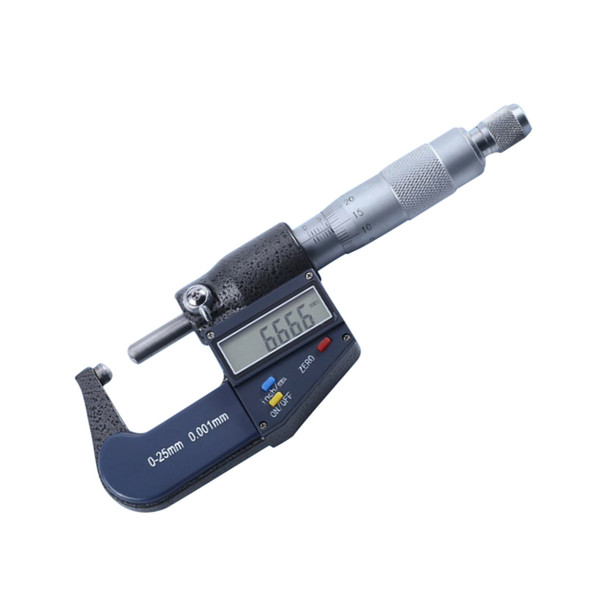 best selling 0-25 mm Range, 0.001 mm Accuracy Digital Outside Micrometer, LCD Display Large Screen with Metric Inch Conversion