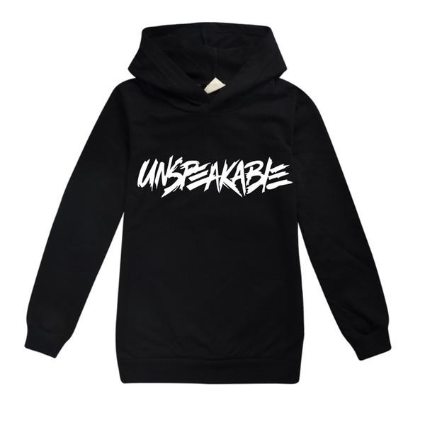 best selling Teen Boys Hoodie Sweatshirt Unspeakable Youtuber Lovers Vlog Hooded Tops Black Pink Girls Outerwear Coat Clothing