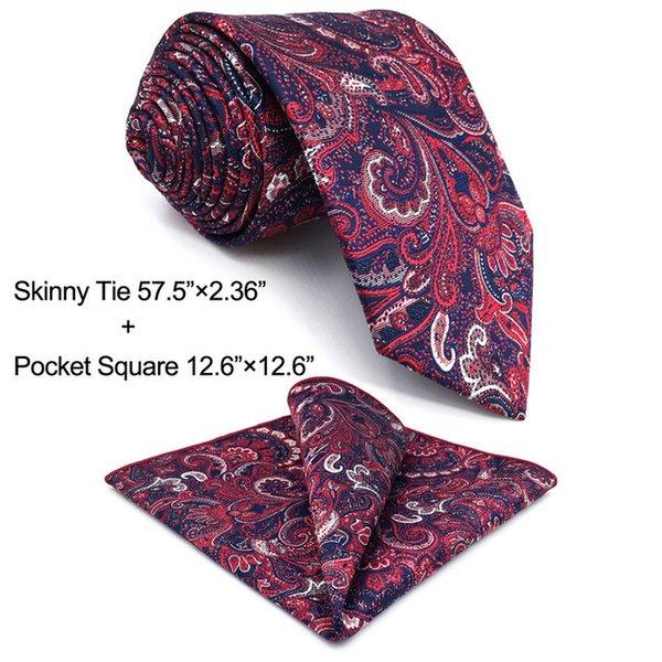 Ensemble de cravate taille skinny