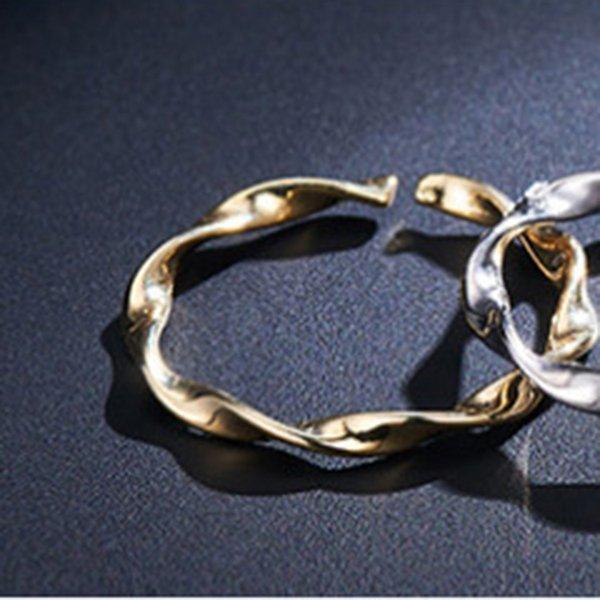010 anel de onda dourado