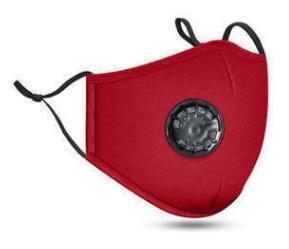 rouge avec clapet anti-souffle