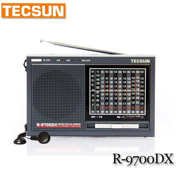 best selling TECSUN R-9700DX Fm Radio Original Guarantee SW MW High Sensitivity World Band Radio Receiver With Speaker Portable