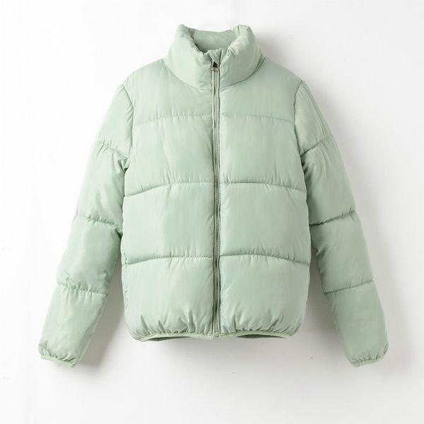 mint green parka