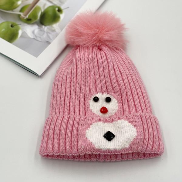 Снеговик розовый