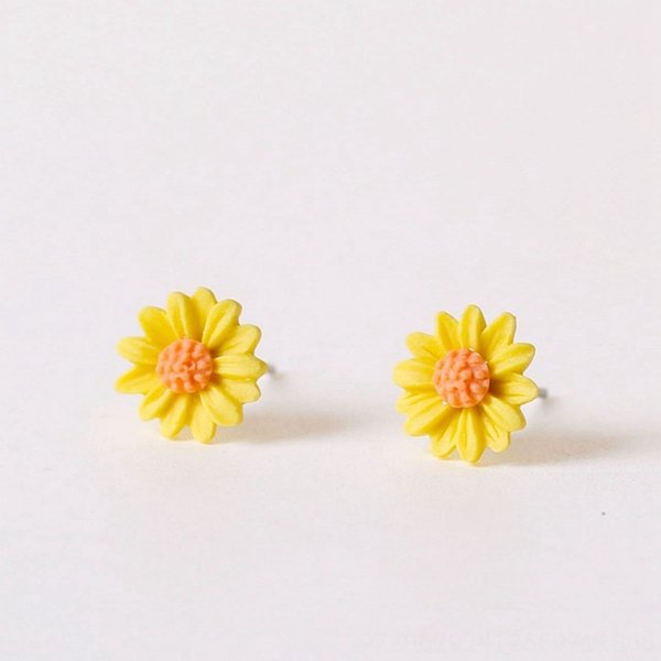 Pequeno # Crisântemo Amarelo Brincos