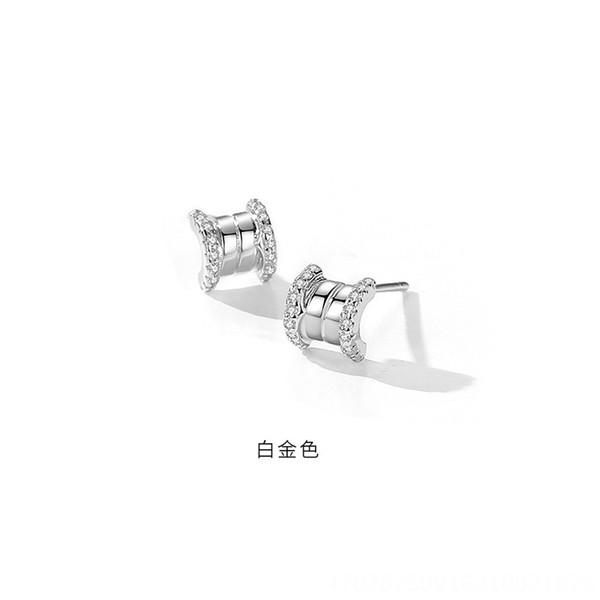 Platinum (mit Kunststoff-Ohr-Stecker) -925 Sil