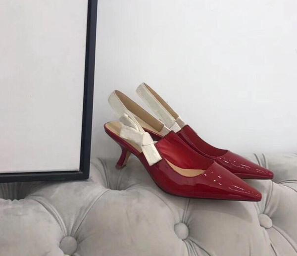 красные 6.5cm каблуки
