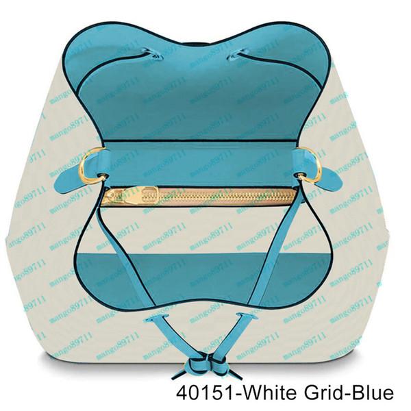 40151-White Grid-Blau