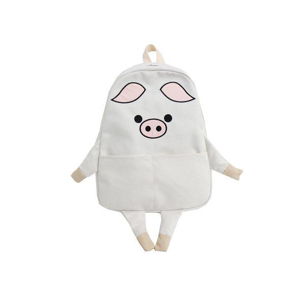 backpack white pig
