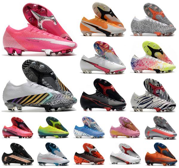 best selling 2020 Men Mercurial VA POR XIII Elite FG Low 13 Rosa Panther MDS 003 Daybreak Safari CR7 Ronaldo 360 Boy Soccer Football Boots Shoes US3-11