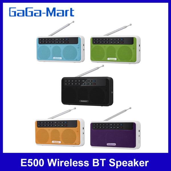top popular Rolton E500 Wireless Bluetooth Speaker 6W HiFi Stereo Music Player FM Radio w  LED Display Mic Hands-free Record TF 2021