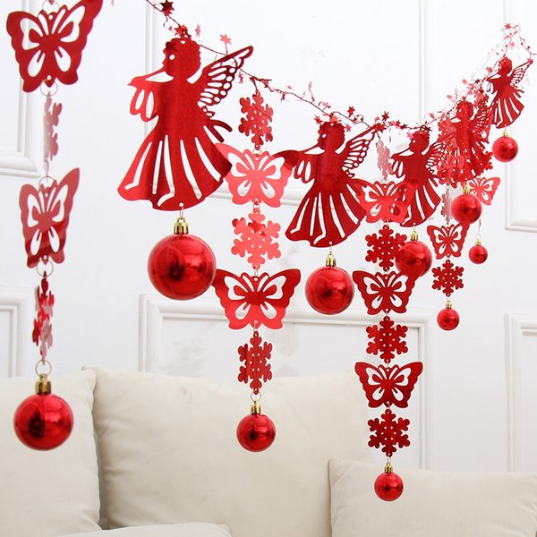 2 m Red Snowflake Butterfly Angel