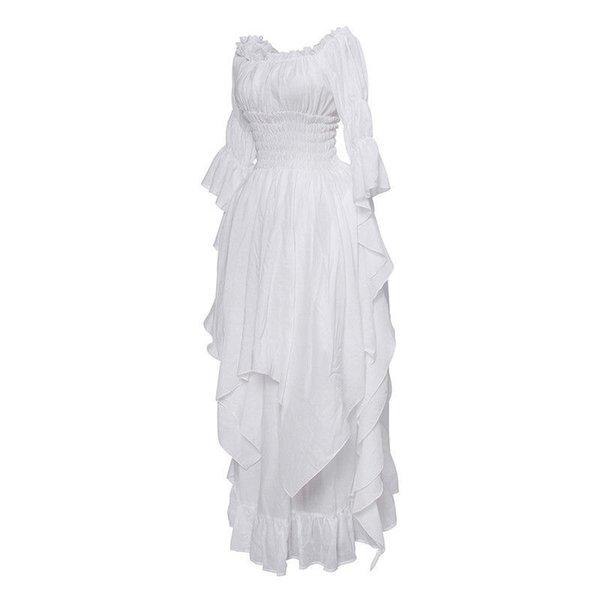 bianco vestito medioevale