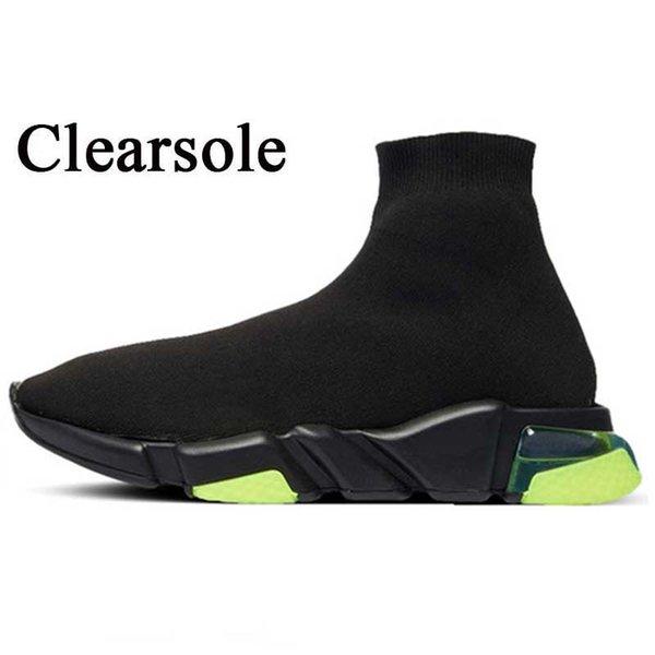 A28 Clearsole الأسود فولت 36-45