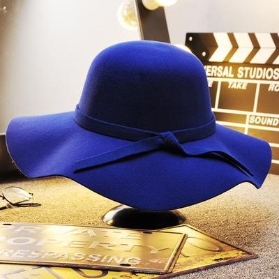 Dome ondulate di lana Cappello-zaffiro blu-adulti