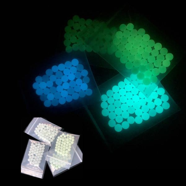 top popular DHL Mini 6mm 8mm Quartz Terp Dab Pearls Insert Luminous Glowing Blue Green Clear Quartz pearls ball For Quartz Banger Nails 2021