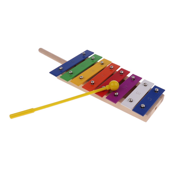 best selling 8 Tones Aluminum Xylophone with Mallet Percussion Instrument Musical Toy for Kids