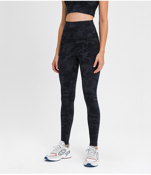 best selling L-112 Spandex Women yoga Full pants High Waist Sports Gym Wear Leggings Elastic Fitness Lady Overall Long Tights Workout Naked Trousers