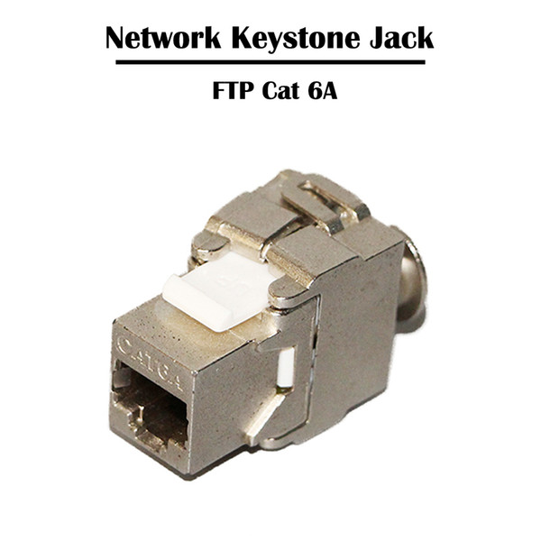 best selling 20 Pieces 10Gbps FTP Cat 6A Networking Keystone Jack Connectors RJ 45 Port Female 8P8C Ethernet Fluke Tester Tools for Cable Patch Panel