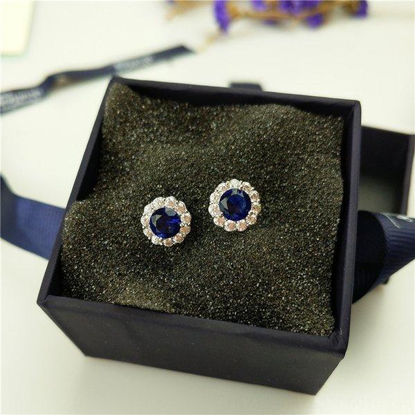 Sapphire Blue Platinum orecchini