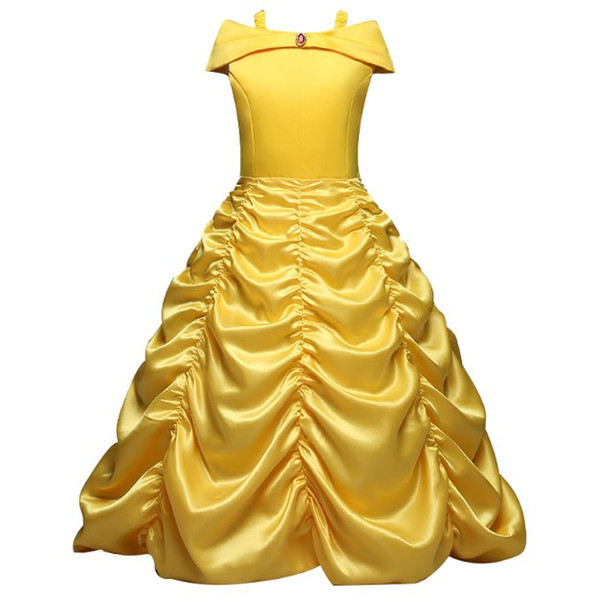 best selling 4-10 Years Cosplay Princess Girl Dress For Halloween Party Drama Prom Christmas Costume Kids Clothes