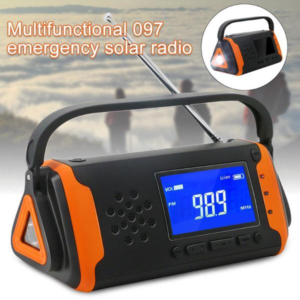 top popular Household Power Bank Outdoor Electric Emergency Radio USB Charger Hand Crank Portable Solar Powered SOS Alarm Dynamo 2021