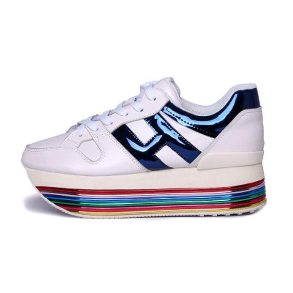 arcoiris azul blanco