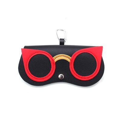 preto gato vermelho olho-C