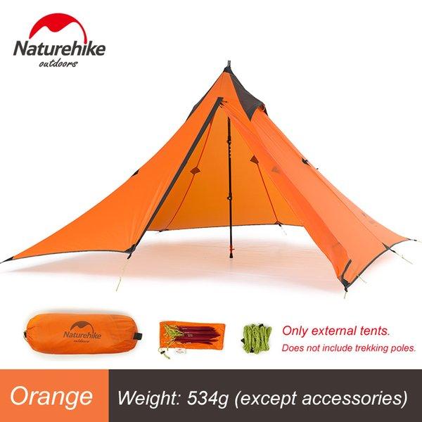 Orange External Tent