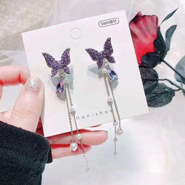 Silver Needle-viola diamante