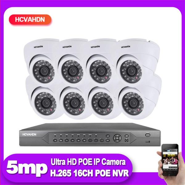 None EU Plug 16CH NVR 8pcs cam