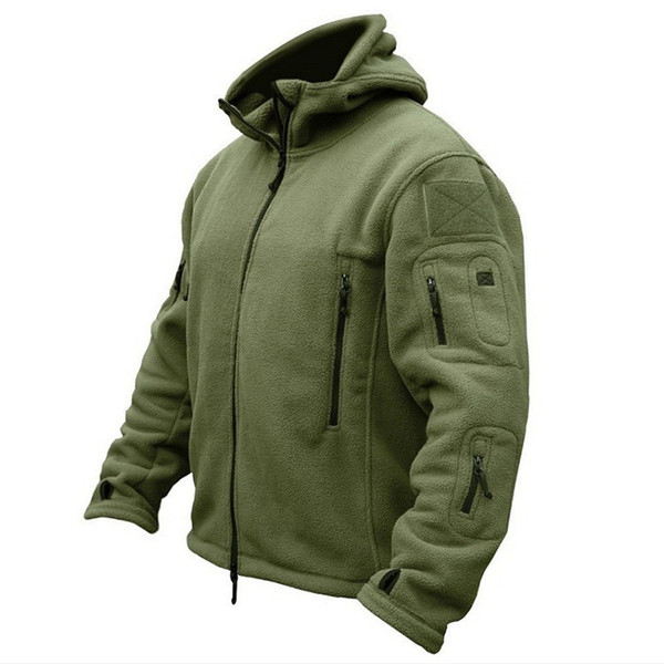 best selling Men US Army Winter Thermal Fleece Tactical Jacket Outdoors Sports Hooded Coat Militar Softshell Hiking Outdoor Army Jackets