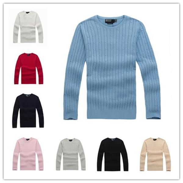 top popular High quality polo men's pull New York sweater knitted coat cotton sweatshirt Round neck jumper pullover sweater Small horse sport game 2020