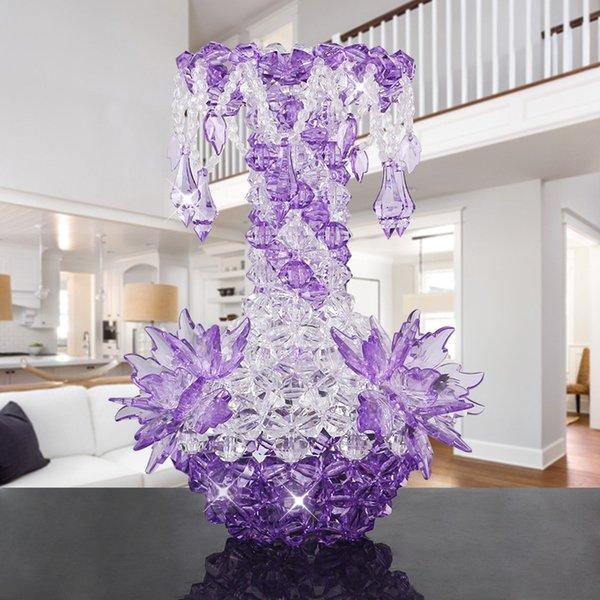 Roxo claro (tipo B), vaso-descrição Material