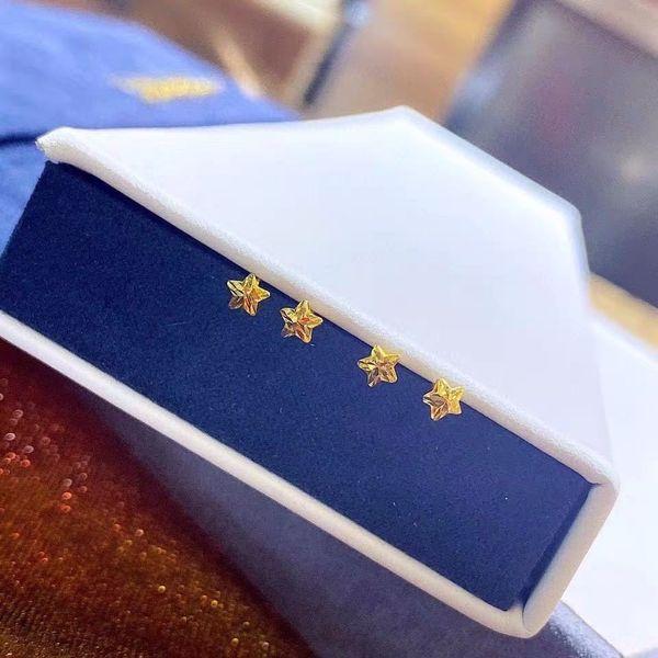 18k Gold Five-pointed Star Stud Earrings