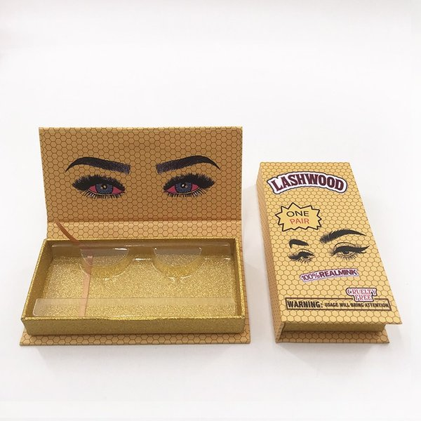 lashwood caja vacía de color amarillo