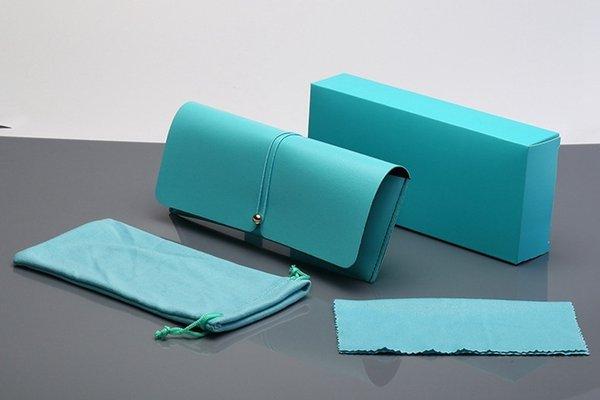 Açık Yeşil Deri Kutu + Ayna Bezi M