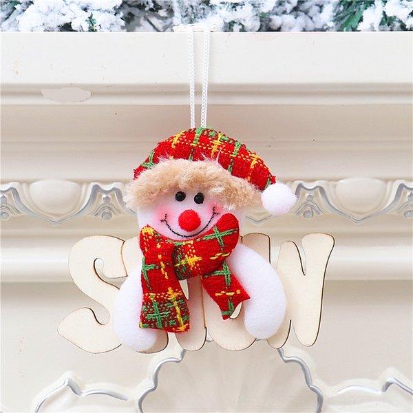 Tn colgante de madera muñeco de nieve