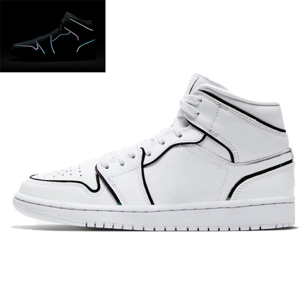 1 36-45 Iridescent Reflective white
