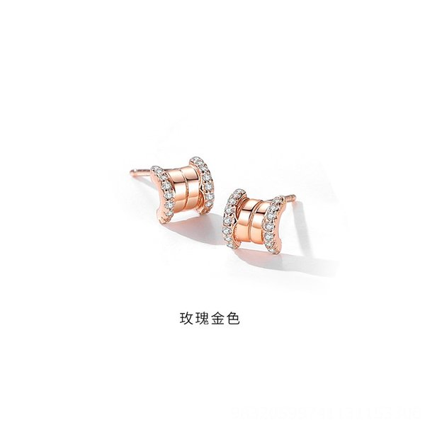 Rose Gold (mit Kunststoff-Ohr-Stecker) -925 Si