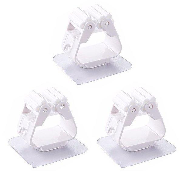 Three white