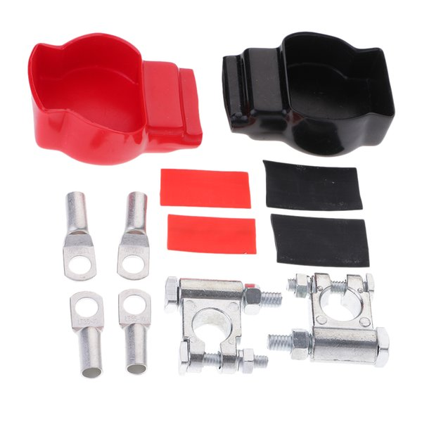 top popular Battery Terminal Top Post Set (+ And -) With Covers 2021