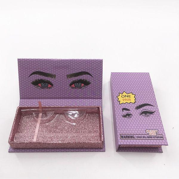 caja vacía de color púrpura
