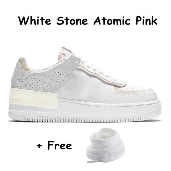 12 White Stone Atom Pembe