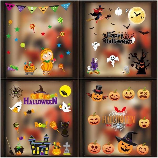 best selling 2020 Halloween decoration window sticker decoration shopping mall hotel electrostatic sticker